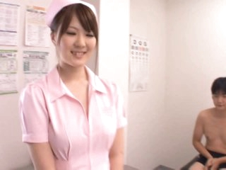 DD Cupped Momoka Nishina Likes Sucking and Tit Fucking her Patients' Rods
