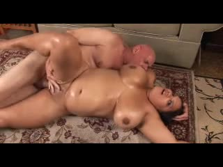 Chubby oiled up bitch fucked hard