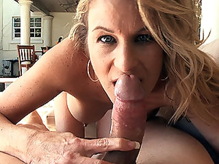 Sexy Blond MILF Gianna Phoenix Sucks and Fucks a Big Cock Outdoors