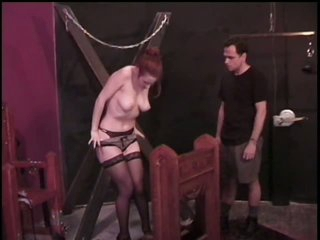 Submissive Brunette hair Gets Her Big Jugs Tortured By Master Rick Savage