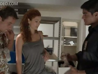 Insanely Hot Redhead Heather Vandeven Gets Threesomed