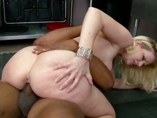 Slapper Anita Blue rides her moist cunt on a huge prick