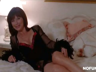Seductive MILF Celeb Janice Hamilton Laying On a Bed In Hot Underware