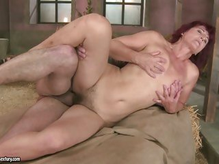 Stunning Milf Ria acquires her smooth clean shaven pussy fucked hard by cock