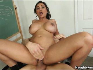 Blistering Priya Rai rides this coed's cock up her slot