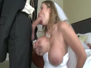 Milf bride sucks and fucks lucky groom