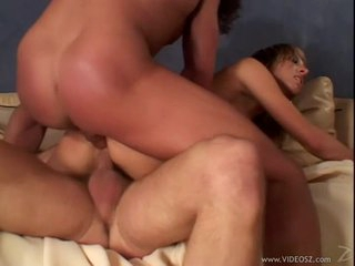 Janet Alfano enjoys a coarse double penetration