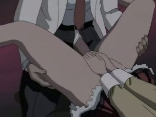 Hentai whore getting a giant cock rammed up her petite wet hole