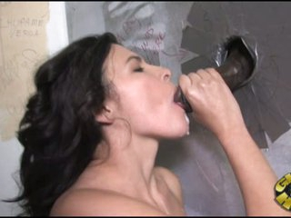 Danica Dillan get the climax of black from hole of wall