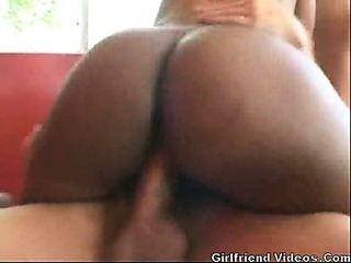 Dark Girl Fucked By 2 Cocks