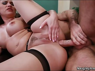 Anal sex with big titted professor Katja Kassin
