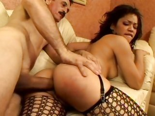 Jayla Star is ass banged in her sexy fishnets