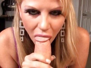 POV cock sucking with titty babe Kelly Madison