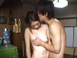 Asian Girl Giving Blowjob Riding On Guy On The Floor In The Room