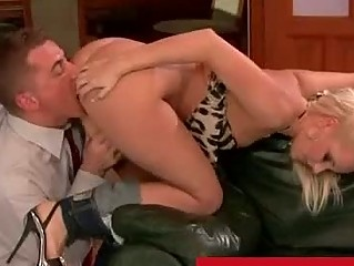 Wife catches her husband cheating with a blonde