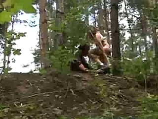 A hot bike ride through the forest