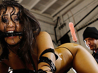 In a mechanics garage this messy breasty whore Charley Chase likes to get fucking mistreated and fucked when it comes to customer service. We fucked this cunt hard and fast, taped her to some cold hard metal equipment and made this slut gush like an oil leak! ...