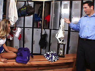 Aubrey Addams gets busy in the locker room previous to the large pep rally by supercharging the motivational motors of the two most good varsity athletes in this awesome reality porn clip that features plenty of anal excitement!