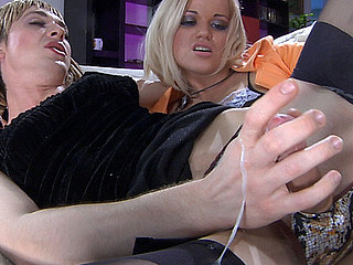 Whoring cross-dresser gets his frock hiked up for some raw dong drilling