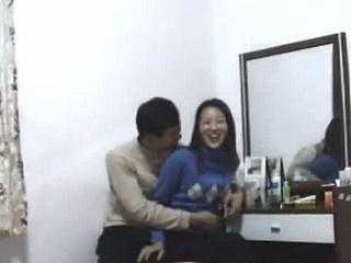 Young Asian amateur gets her pussy rammed by her man's stiff boner from the top and the back. Once she's done, the dick goes in her mouth and she works her tongue to make him cum.