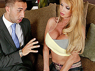 Taylor Wane can't live without water, that babe can't live without it so much that this babe uses way way too much of it and the town is urinated. Keiran Lee, a water management representative, informs Mrs Wane that that babe needs a permit for that much water usage. A permit of this size would cost Mrs Wane around 5.000 dollars, money that babe has just spent on a glorious pair of recent melons. With no money for the permit, that babe uses her fresh breasts as a payment method.
