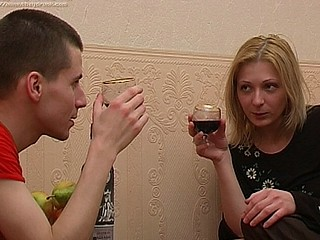 Max is watching as Olga sips from her glass and this guy's hoping that this babe'll get absolutely drunk so that guy can have his way with her out of any trouble. That Guy's been hopeless to fuck her for ages since this chab heard about her constricted cum-hole and how sexy this babe looks undressed. After quite a small in number drinks this babe pulls off her top and reveals that her titties are so merry this babe doesn't even need a bra. This Chab leaps at her chest like a fellow straved and starts engulfing on her nipples, nibbling his way down her body until this chab's licking her muff. That's when the amateur hardcore really gets started as this guy is in a short time fucking her constricted hole