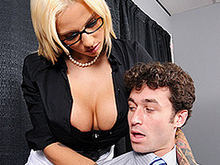 Lylith is giving a presentation about appropriate office conduct in relation to raunchy harassment to a group of employees. One of the employees, James, is not taking her seriously and mocks the entire process. Lylith has a intimate word with James and explains to him that that babe merely took her job to find horny guys. Then this babe gives him a intimate lesson in raunchy conduct.