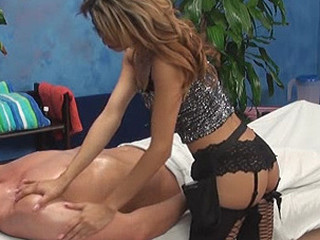 Veronica is caught on our hidden spy web camera fucking her massage patient!