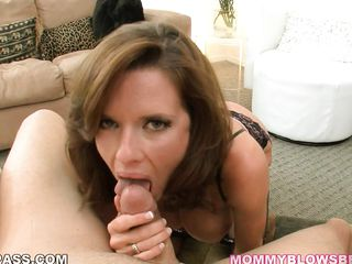 Veronica Avluv has to be one of the hottest milfs I've ever seen. Words just can't describe it all. Not so much a fan of implants, but I can overlook that for this brunette babe who deepthroats a fat cock seductively.