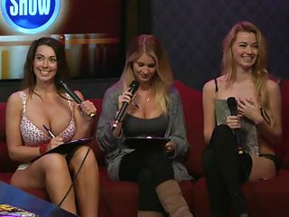 Watch this black guy coming over the daily playboy morning show as there are also two blonde chicks and a brunette whose busty tits are bursting out of her tops! The guy starts discussing about the vagina and certain points of sensuality of it. And the audience gets entertained as well as those babes!
