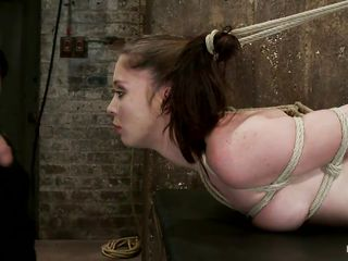 There's a lot of kinky babes willing to give their best for your pleasure at hogtied. For example you can see this cute brunette sluts tied up and getting her pretty mouth fucked by a hard cock, look at her sexy body and at those pink juicy lips wrapping around that dick, does it makes you horny? After getting her pretty mouth stuffed with cock it's time for her pussy to be pleased so the guy uses a vibrator to stimulate it and makes her burst with pleasure. Do you like her gorgeous face and body?