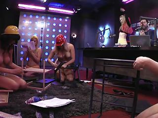Naked bitches wearing only protective helmets are working hard to build something. Even the blonde tries on a work vest and suits her very well, she`s so sexy. A guy on the phone says that the sluts remind him of her ex-girlfriend. They share their past experiences, such as building things with their daddies!