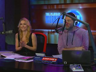 Fat ugly and lucky, very lucky! At the Morning show we have this ugly dude that needs to blush and these hotties are giving their best. How the the fuck can such beauties have such a low self esteem? This blondie makes the guy blush and his cock hard, saying his very cute, ya right bitch you did your job