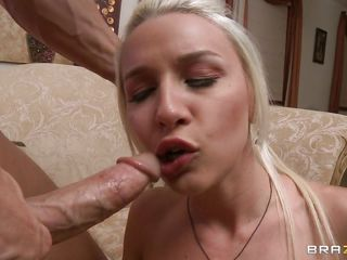 She has a big ass, big tits and a very big mouth that is going to be filled with this guys thick cock. Watch her getting deep throated while she rubs her hot big tits wanting for some spunk on her slutty face.  Will she get more cock inside her tight pussy or will she take it on her hot ass?