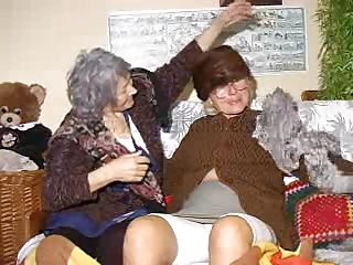 Two very old and saggy grannies and on their couch. These whores may be old but they are still lustful so without much talking the bitches take off their clothes and begin some tits licking and pussy rubbing action. Look at the old whores, think they can handle a hard fuck?