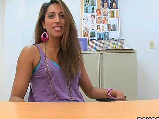 Welcome back, Dam I'd Allied to To Fuck Paramours! Joey Ray back at it afresh with one more fantastic episode of Back Room Dam I'd Allied to To Fuck. A mother i'd take a shine to to fuck by the name of Giselle stopped by the office to watch if this babe can be the next inductee for the noted BangBros web site. After seeing what that babe looked like, there was no way I was turn this sweetheart down. This Babe was fucking tall and sexy with a soaked thick booty. Majority importantly, I couldn't await to watch those large red lips of hers wrapped around my dong. It didn't take too lengthy in advance of that babe was on my desk gratifying herself with one of my dildos. After watching Giselle play with her snatch , I had her get on her knees and engulf my wet pecker. One Time my penis was unbending, I was ready to rock and roll on that soaked arse of hers. Come watch and watch how I fucked this sexy mother i'd take a shine to to fuck in my office. Have A Fun!