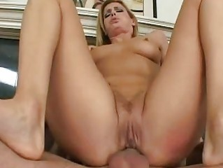 Blonde milf with shaved camel toe gets anal sex