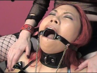 Gagged and soaked cum starving sluts enjoying hardcore torturing fun