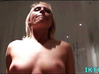 Girl rides POV cock