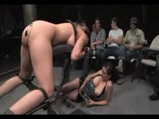 Delilah Beefy long BDSM scene with an audience