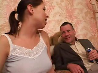 Cutie brunette, Haley Paige, gets screwed in the ass hard by step dad