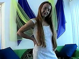 Anna May -  Hairy redhead with lactating tits