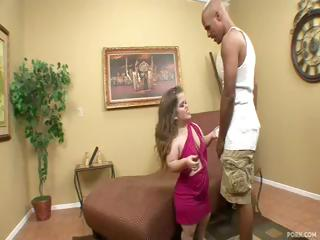 Midget Mini Mya gets a large black cock