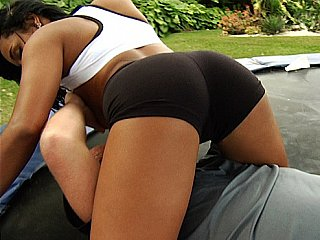 Sporty ass latina takes a ride