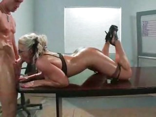 Oiled up Phoenix Marie pounded by cock